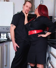 Mistress Jemstone punishing Merlin for not cleaning her flat