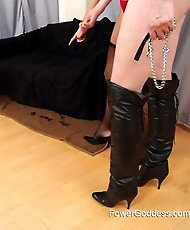 Slave in doggy training